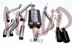 Stainless Steel Dual Cat Back Exhaust +Black Tips 09-19 Dodge Ram 1500 5.7L Hemi