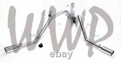 Stainless Steel Dual Side Exit Cat Back Exhaust System 09-10 Ford F150 4.6L/5.4L