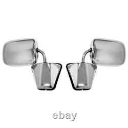 Stainless Steel Mirror Assembly Pair for 81-87 Chevy GMC Pickup Blazer Jimmy