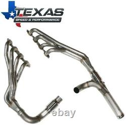 Texas Speed 2014+ GM Truck 5.3L 1-7/8 Stainless Long Tube Headers Catted Y-Pipe