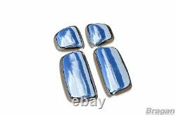 To Fit DAF XF 105 Polished Stainless Steel Mirror Covers Truck Lorry 4 Piece Set