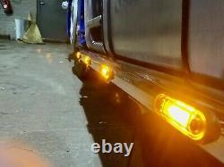 UNIVERSAL STAINLESS STEEL LIGHT BAR 100 CM Whit 4 LEDs LORRY TRUCK VAN