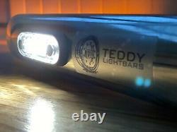 UNIVERSAL STAINLESS STEEL LIGHT BAR 110 CM Whit 5 LEDs LORRY TRUCK VAN