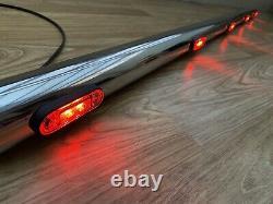 UNIVERSAL STAINLESS STEEL LIGHT BAR 150 CM Whit 5 LEDs LORRY TRUCK VAN