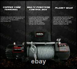 X-BULL Electric Winch 12V 13000LBS Steel Cable OffRoad Jeep Truck Towing Trailer